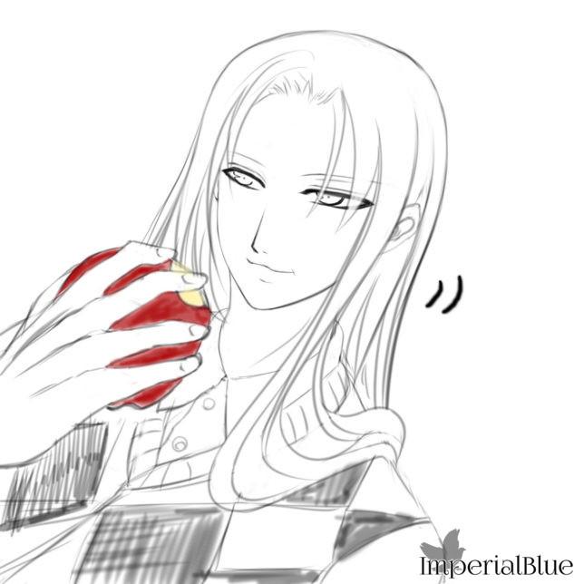 [01] リンゴをかじる スヴェン